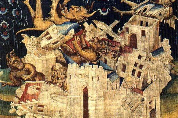La caduta di Babilonia, arazzi del castello di Angers (Anjou, Francia), XIV secolo
