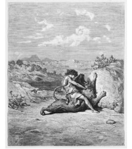 Gustave Doré, Sansone uccide il leone (1866)