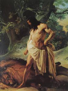 Hayez, Sansone e il leone (1842)
