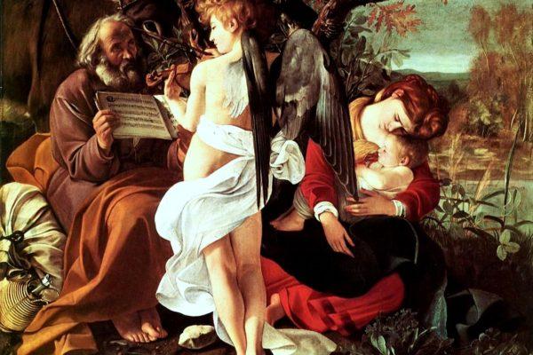 Caravaggio, Riposo durante la fuga in Egitto, 1595-6