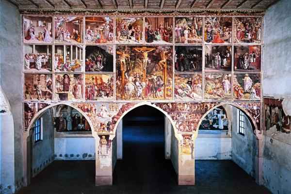 Tramezzo decorato da Martino Spanzotti - San Bernardino di Ivrea
