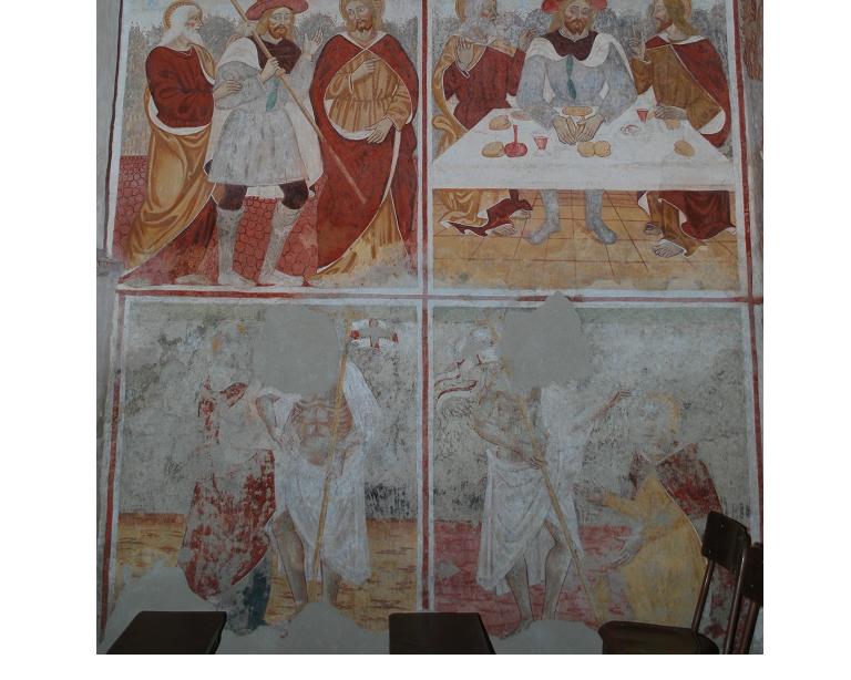 Oratorio della SS. Trinità a Momo (NO) affreschi attribuiti ai fratelli Sperindio e Francesco Cagnola
