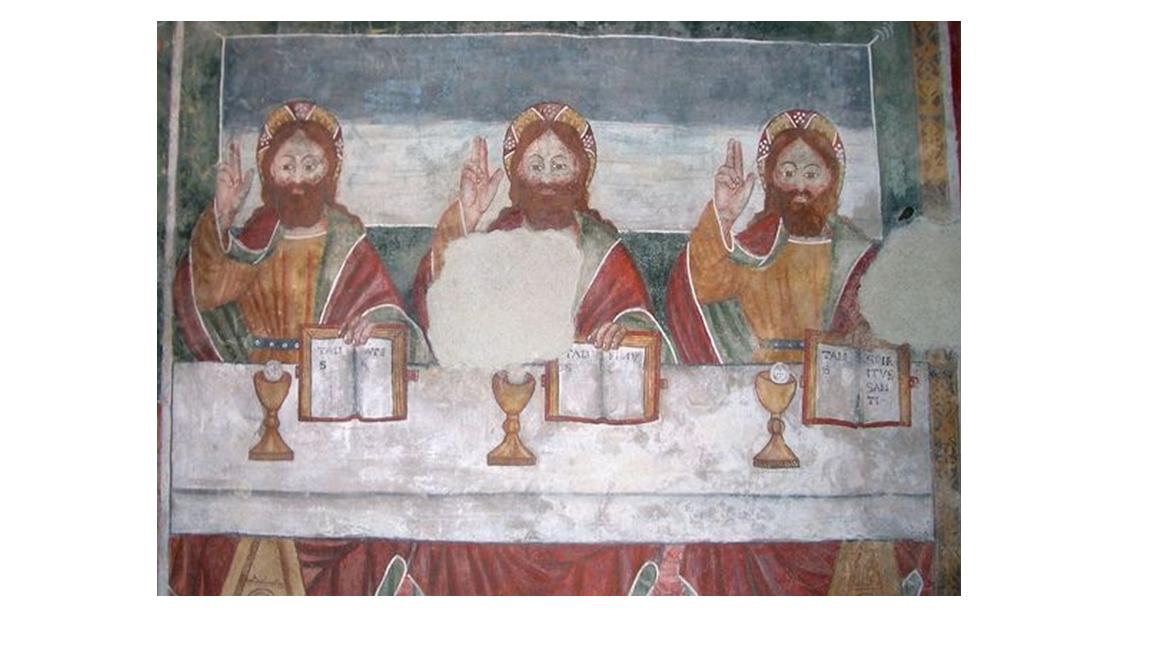Melle (CN), Antico Ospizio di Carità, TRINITA' , Fratelli Biazaci - sec. XV