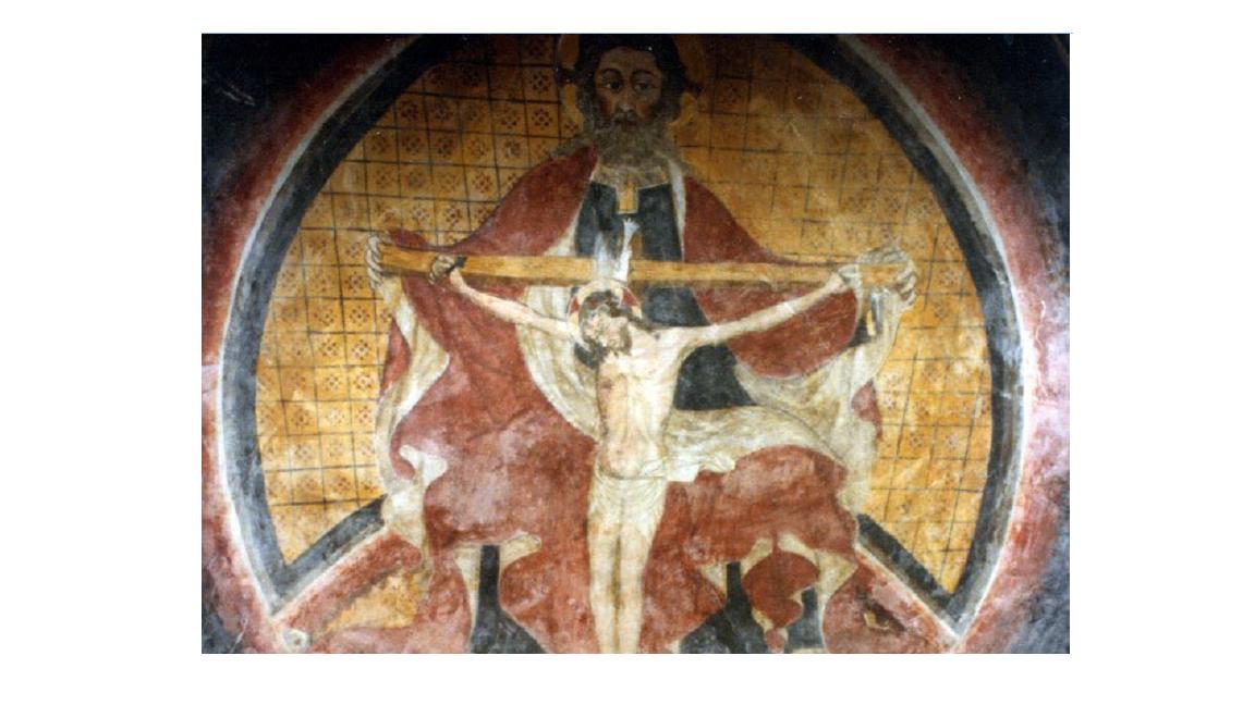 Scarnafigi (CN) ,Cappella della Santissima Trinità, fine del XV secolo attribuito a Pietro da Saluzzo