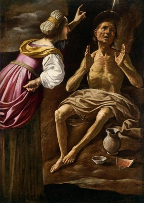 Rutilio Manetti (Siena 1571–1639)  Giobbe e sua moglie,