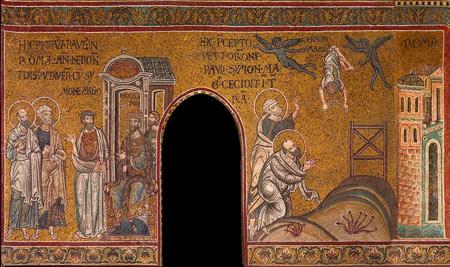 Monreale - Duomo - abside laterale destra mosaici di fine XII secolo