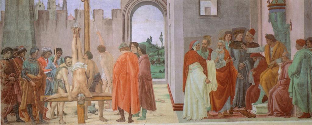 Firenze –Chiesa di Santa Maria del Carmine – Cappella Brancacci - Filippino Lippi (1482-1485 circa).