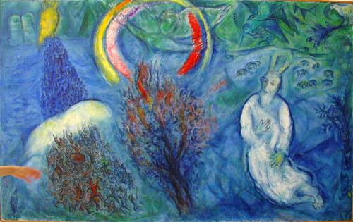 Marc Chagall, Mosè davanti al roveto ardente