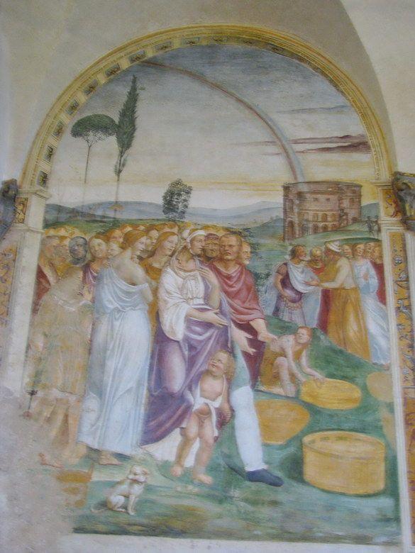 Pienza (Siena)-Giovanni Antonio Bazzi detto Sodoma - Monastero di Sant'Anna in Camprena -1503-04.