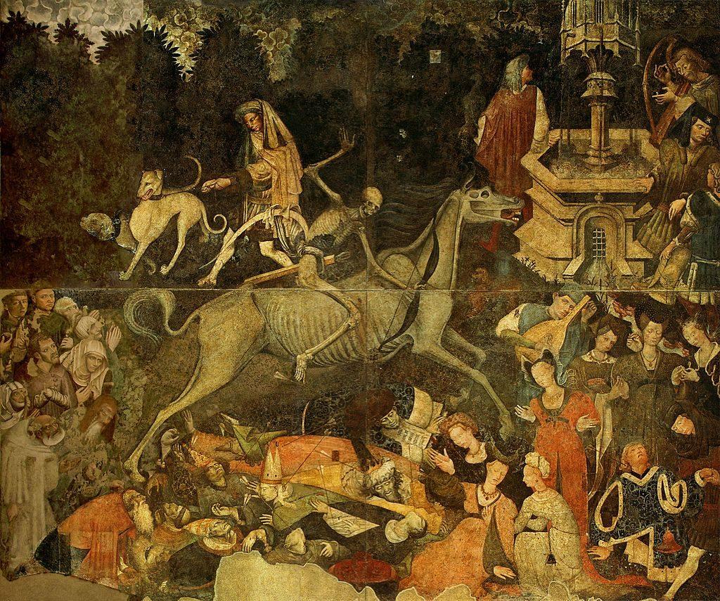 Palermo – Affresco (600x642 cm) 1446 circa di autore ignoto - staccato da Palazzo Sclafani e conservato nella Galleria regionale di Palazzo Abbatellis