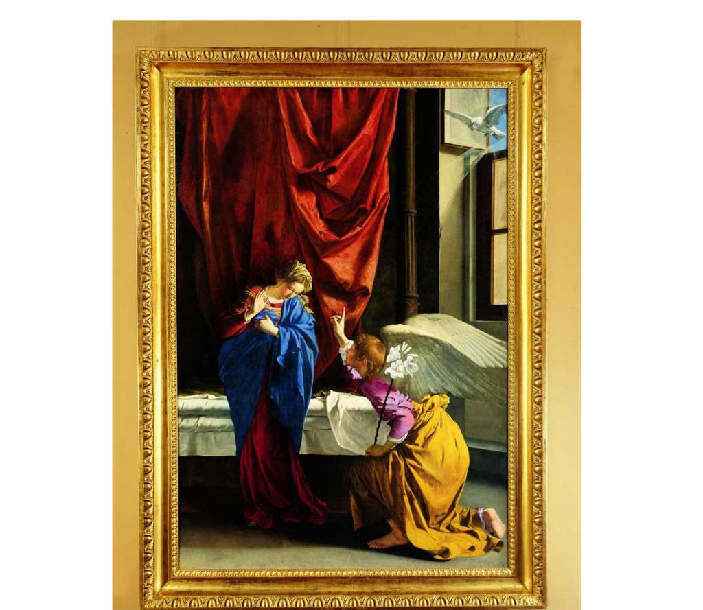 """Torino Galleria Sabauda – """"Annunciazione"""" Orazio Gentileschi 1623"""
