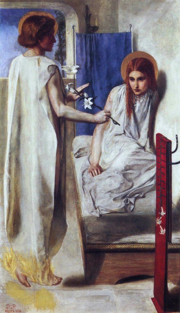 """Londra - Tate Gallery """"Ecce ancilla domini"""" di Dante Gabriel Rossetti dipinto tra il 1849-50"""