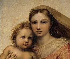 Raffaello, Madonna sistina (dettaglio), 1513-4, Dresda