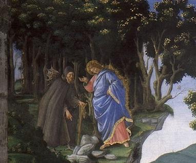 Sandro Botticelli. particolare da Le prove di Cristo