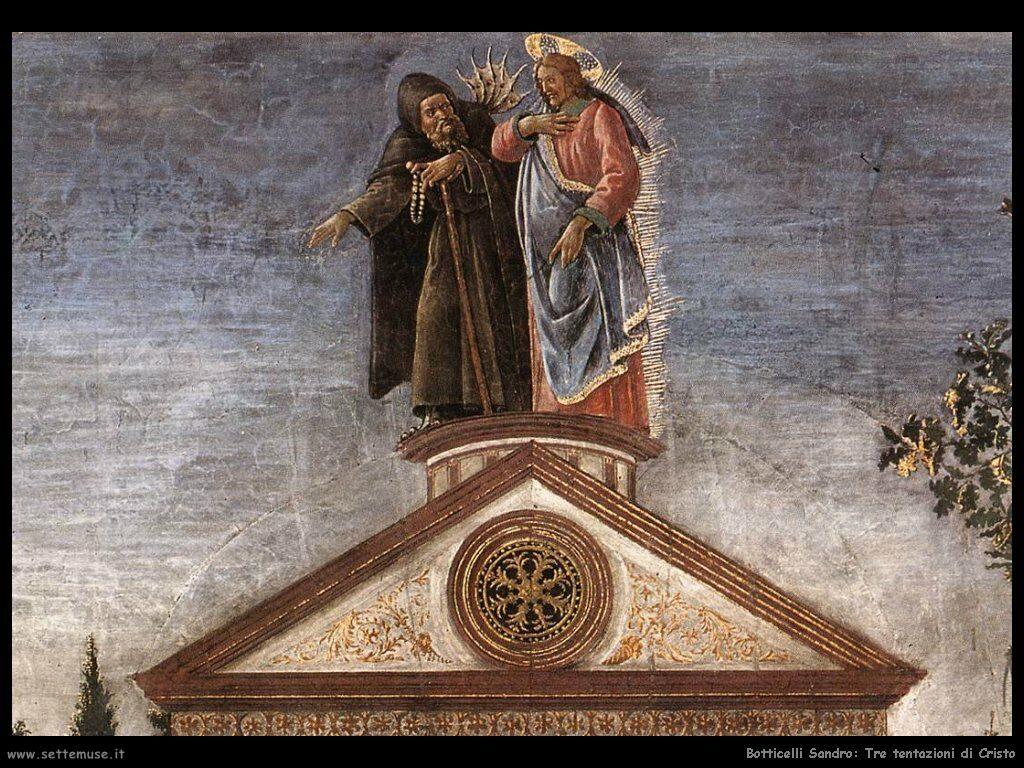 (2) Sandro Botticelli, particolare da Le prove di Cristo